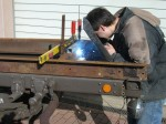 A friend welding the subframe on my vehicle.
